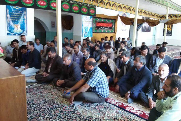 حضور همکاران در مسجدمعدن آبدشت